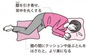 寝る姿勢①